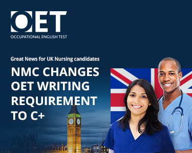 UK NMC accepts OET C+